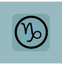 Pale blue Capricorn sign vector