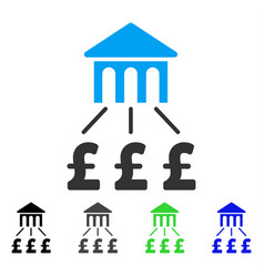 Pound bank structure flat icon vector
