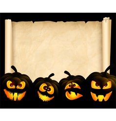 Pumpkins on the background of papyrus vector image