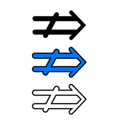 right arrow icon vector image