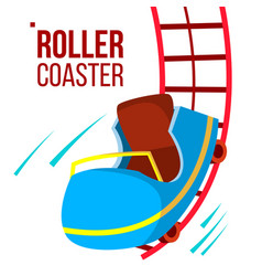 roller coaster fast ride mountians vector image