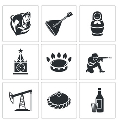 Russian World Icons Set vector