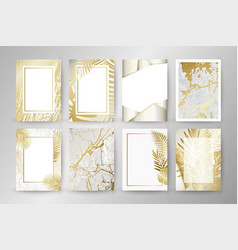 Set of elegant brochure card background cover vector