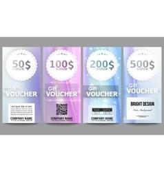 Set of modern gift voucher templates Abstract vector