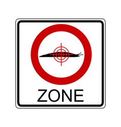 Slug hunting zone vector