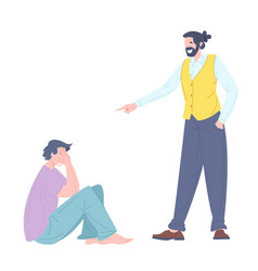 social bullying concept between people vector image