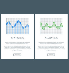 statistics collections page vector image