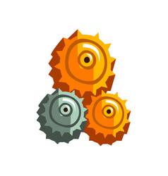 Steampunk gear wheels antique vintage vector