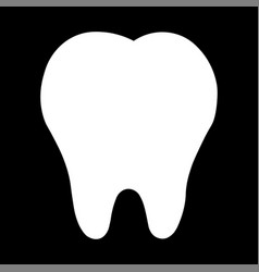 teeth icon dentist flat signsymbol for mobile vector image