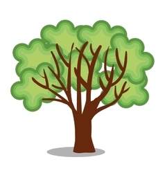 Tree plant ecology icon vector