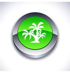 Tropical 3d button vector