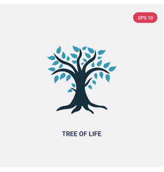 Two color tree life icon from religion concept vector
