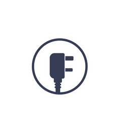 Uk electric power plug icon vector