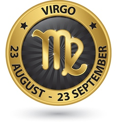 Virgo zodiac gold sign virgo symbol vector