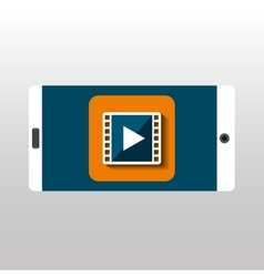 White smartphone movie network digital vector