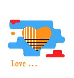 yellow heart icon vector image