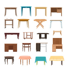 furniture table isolated on white background vector image
