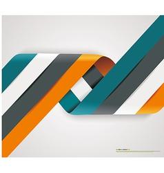 Modern spiral options banner vector image