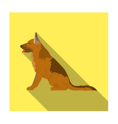 police dog for detaining criminals trained vector image