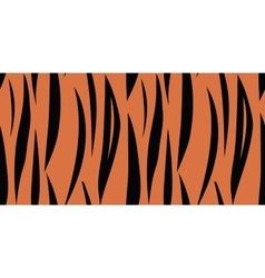 Tiger skin seamless pattern vector image