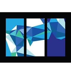 triangle line set vector image