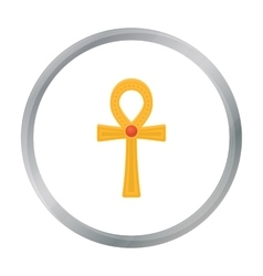 Ankh icon in cartoon style isolated on white vector image vector image