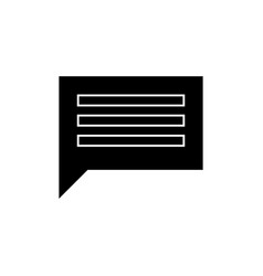 chat simple icon sign o vector image vector image