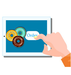 online food order donut vector image vector image