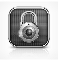 Padlock icon on white vector image