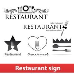 Restaurant sign vip vector