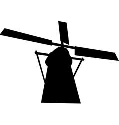 Black mill silhouette vector