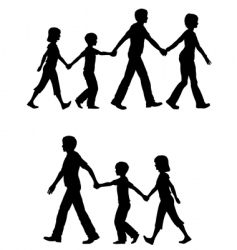 casual family vector image