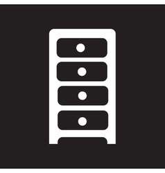 Flat icon in black and white style chest of vector