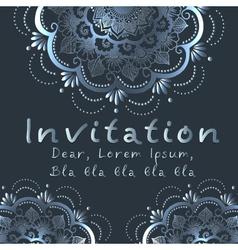 Indian wedding invitation vector image
