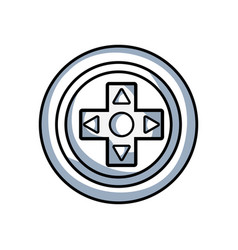 Line videogame symbol to play and videogame vector
