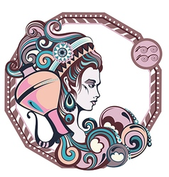 Zodiac signs Aquarius vector image