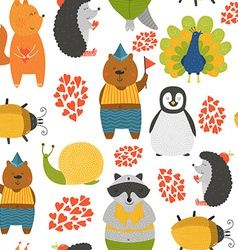 background with cute animals vector image vector image