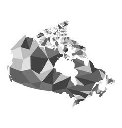map Canada polygon vector image vector image