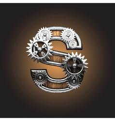 metal figure with gearwheels vector image vector image