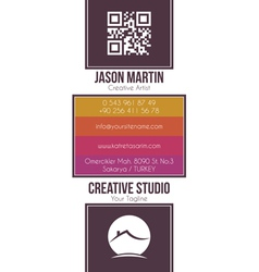 Real estate building business card vector image vector image