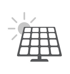solar energy panel flat web icon vector image
