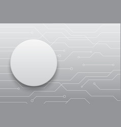 technology future white circle button circuit vector image