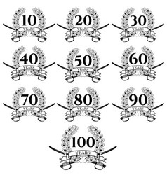 10 100 anniversary oak wreath icon3 vector