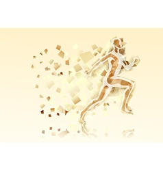 abstract running man vector image