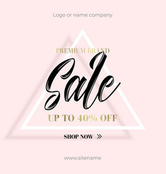 advertising banner sale 40 percent discount vector image