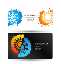 Air conditioning business card vector