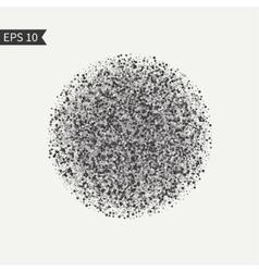 Black and white design element burst glitter vector