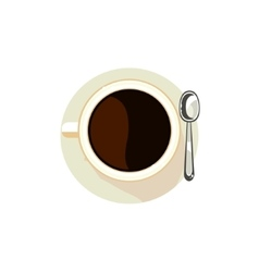 Black coffee in a cup vector