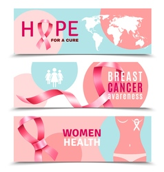 Breast Cancer Banners vector