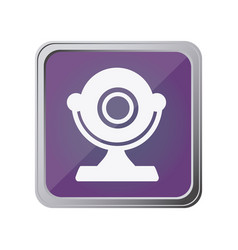 button with desktop webcam with background purple vector image
